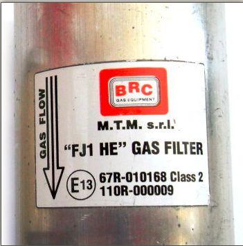 BRC GENIUS MB 1200 ORINGI FILTRY GAZU LPG 2 SZT