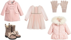 16bb965f9a Jesień zima w kolorze pudrowego różu - pomysły na stylizacje dla dziewczynki
