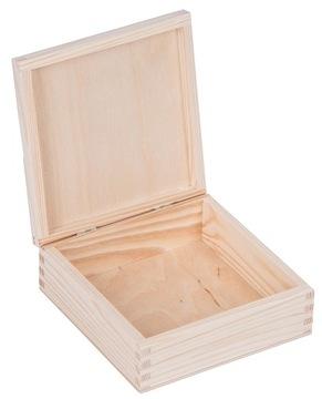 Drevený box kontajner 16x16cm decoupage