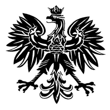 Orzeł.Štítok poľského znaku na bicykle, prilby a telefóny