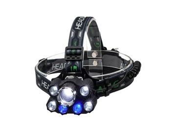 Silné hlavové svetlomet 9 LED zoom LCZ023