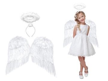 Sada kostýmu Angel Wings Aureola betlehem 55x45