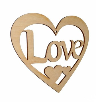 OPENWORK HEART 15см деревянный кулон Deco SA6