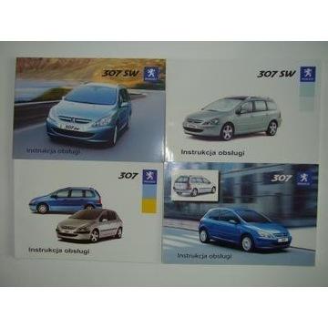 Instrukcje obsługi Peugeot 307 (+SW) do 2005 roku