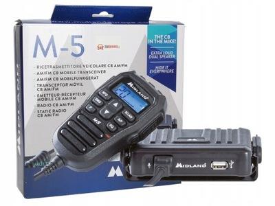 РАДИО CB MIDLAND M-5 USB AM/FM ZALUTOWANY РАЗЪЕМ A7A