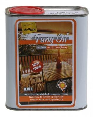 HartzLack Tung olej na drevo BEZFAREBNÝ 5L