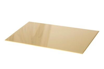 Blacha mosiężna mosiądz arkusz 2 mm 10x20cm