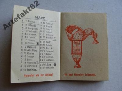 PRZEDWOJENNY KALENDARZYK 1930 REKLAMA NICI