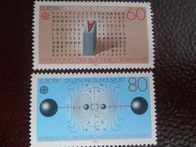 Niemcy RFN - Mi.nr 1175-76 - Europa -wynalazki -**