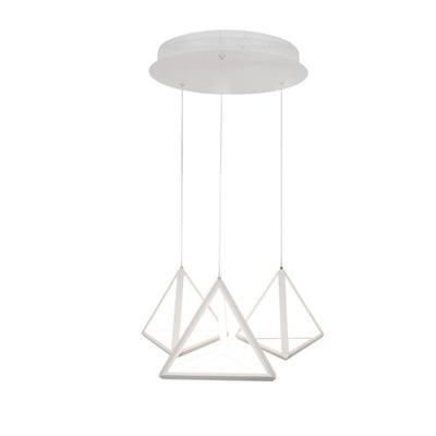 Svietidlá - Závesné svietidlá - Lampa Sufitowa Wisząca Żyrandol LED Trójkąty 40W