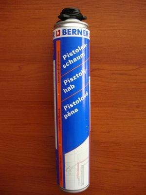 Piana pianka montażowa pistolet BERNER750ml soudal
