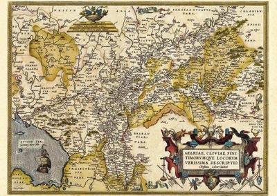 Старая карта Германии и Голландии