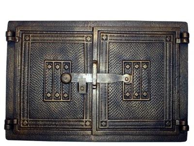 Liatinové dvere pece, pec, udiareň 41x27