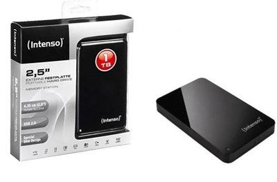 Dysk przenośny zewnętrzny na USB Intenso 1000 GB