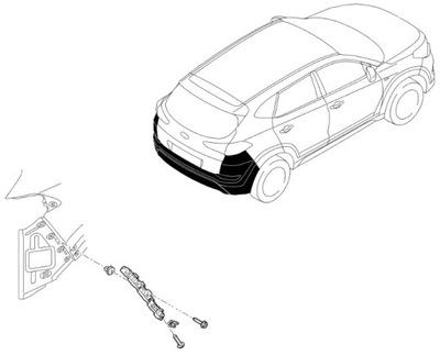 Wspornik Ślizg Zderzaka Tylnego Tył Hyundai Tucson