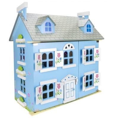 Drewniany Domek dla lalek Willa Alpejska 246019BLU