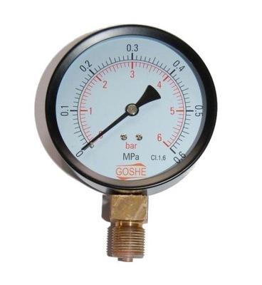 Manometer fi 100 mm GOSHE 6 bar manometer dole