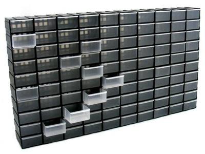 100 штук . Емкость коробочки органайзер, черный
