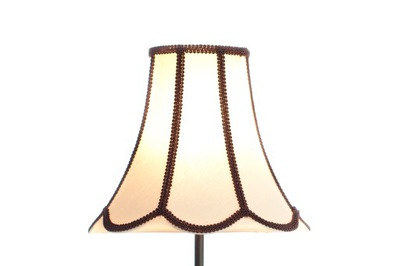 Абажур из натуральной ткани на лампу.