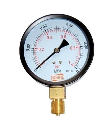 Manometer fi 100 GOSHE 1 bar tlakomer nadol