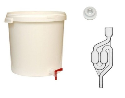 Емкость ферментационный 30л с краном маской и трубкой fermenta
