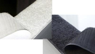 Rzep do termo-naszywki kompletny biały lub czarny