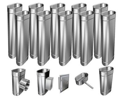 Kotol - 1mm CHIMNEY INSERT 12m 130x240 Tepelne odolný HIT