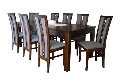 стол 90x170/250 + стулья 8 КРАСИВЫЙ комплект Столовая