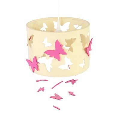 Lampa filcowa motýľ ružová ekri Doplniť. príležitosť