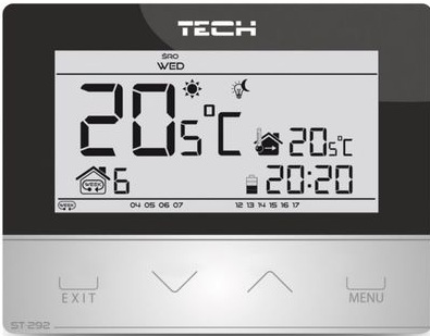 TECH ST-292 v3 priestorový Termostat Controller Black