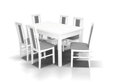 Zestaw 1 stół rozkładany GU I + 6 krzeseł MK XIV