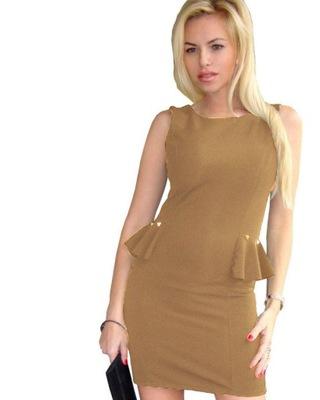 16596385cf sukienka BASKINKA OŁÓWKOWA ĆWIEKI z ĆWIEKAMI XS S - 5990086037 ...