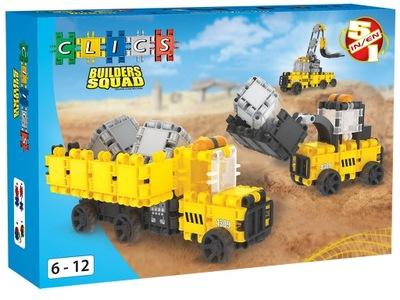 Klik-klak stavebnica pre deti - Klicks BC005 Builder Squad BOX Výstavba budov NOVINKA