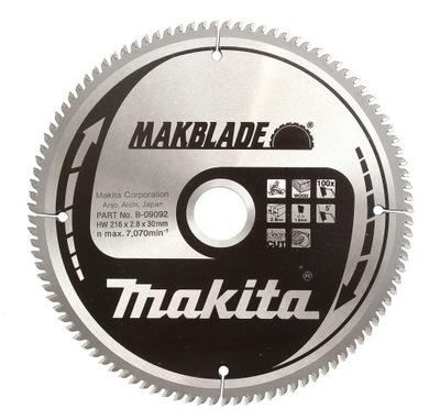 Rezací kotúč - Pílový kotúč pre drevo MAKITA 216x30 100z MAKBLADE