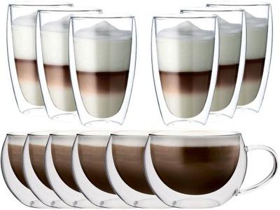 СТАКАНЫ ТЕРМОСТОЙКИЕ кофе ЛАТТЕ чай подарок X 12