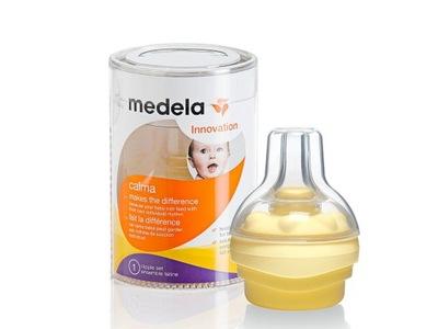 Cumlík na fľašu - Medela Calma Pacifier s nastavením uzáveru na fľaše