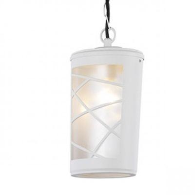 Svietidlá závesné - Italux Lampa zewnętrzna sufitowa Paco White