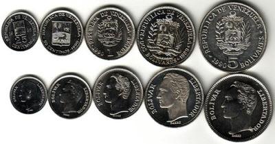 WENEZUELA  zestaw 5 monet B