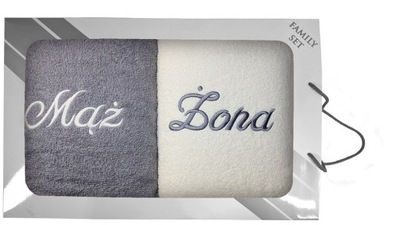 комплект полотенце в коробке 2 штук 70x140 Муж и Жена