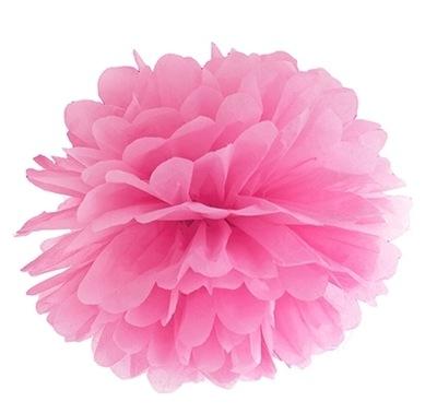pompony RÓŻ kwiaty Dekoracje weselne na ślub