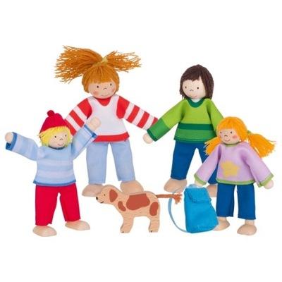 Goki Drevené bábiky pohybujú rodzinanawakacjach