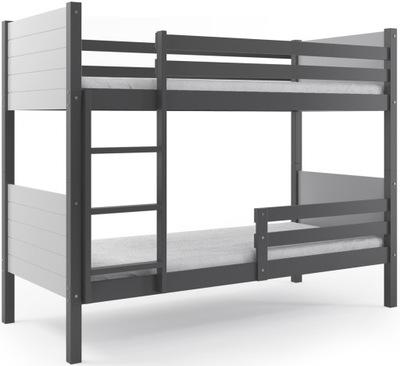 Łóżko piętrowe CLIR 200x90 dla dzieci + BARIERKA