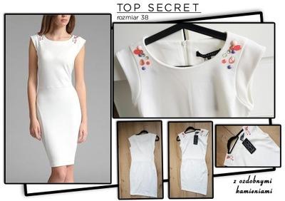Sukienka z kryształkami TOP SECRET  NOWA