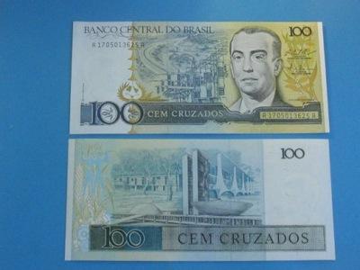 Бразилия Банкнота 100 Cruzados  - P-211c UNC 1987