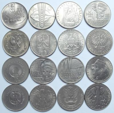 Zestaw 8 monet 10 zł okolicznościowe 1967 - 1972 r