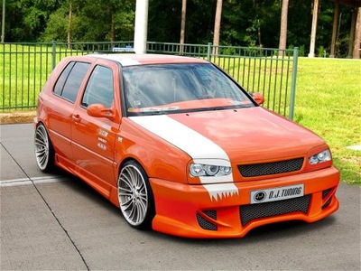 VW GOLF 3 * REJILLA DE RADIADOR BAD LOOK SZEROKI * DJ-TUNING