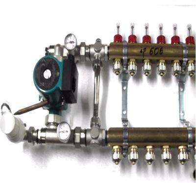 Predné podłogówki 3 čerpadla rotametry .600