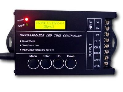 Programovateľný USB 12V súmrakový LED ovládač