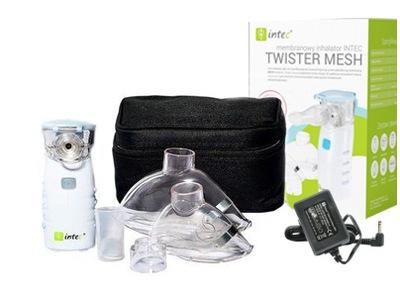 Inhalátor, rozprašovač - Intec MESH NE-105 cestovný inhalátor + napájací zdroj