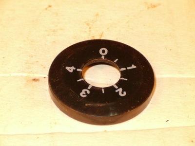 tarczka ze skalą do przeciwwagi Unitra Fonica